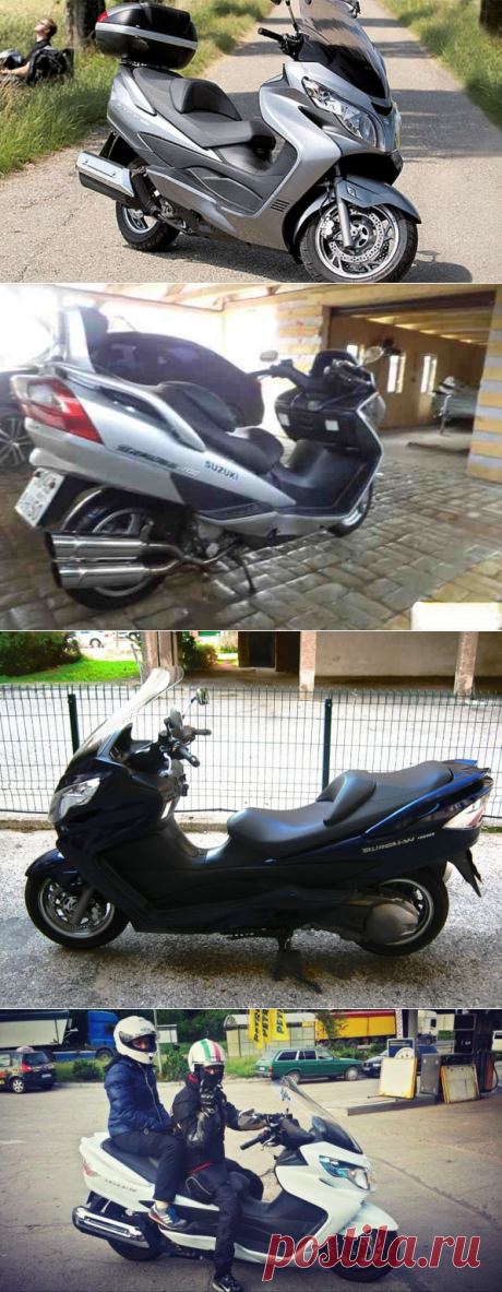 Макси скутера Suzuki Skywave 400: технические характеристики, фото