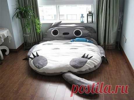 "а поспать на такой ""няшной"" кровати?"