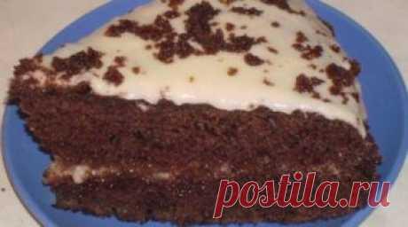 Очень вкусный шоколадный торт на кефире