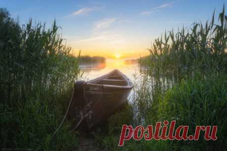 Утро в тихой бухте Калининградской области. Автор снимка – Валерий Притченко.