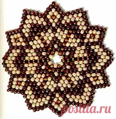 Техника плетения плотного круга из бисера