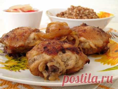 Куриные бедра жареные со вкусом шашлыка