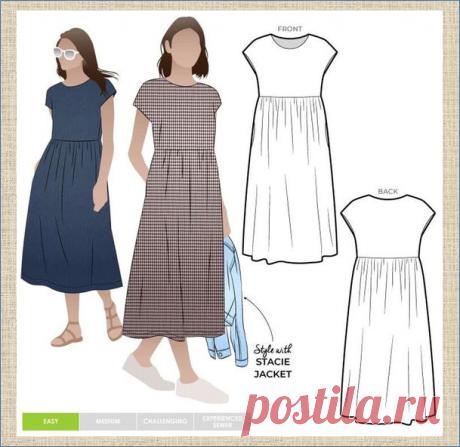 Платье свободного кроя - стильно, модно и на любую фигуру - модели и выкройки | МНЕ ИНТЕРЕСНО | Яндекс Дзен