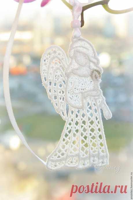 Купить вышитая подвеска интерьерная Мой Ангел элемент для модуля на кроватку в интернет магазине на Ярмарке Мастеров