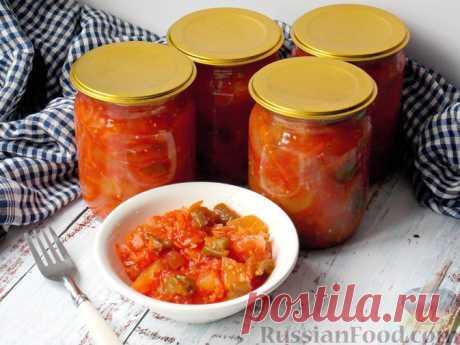 Овощной салат из кабачков, сладкого перца и помидоров (на зиму)