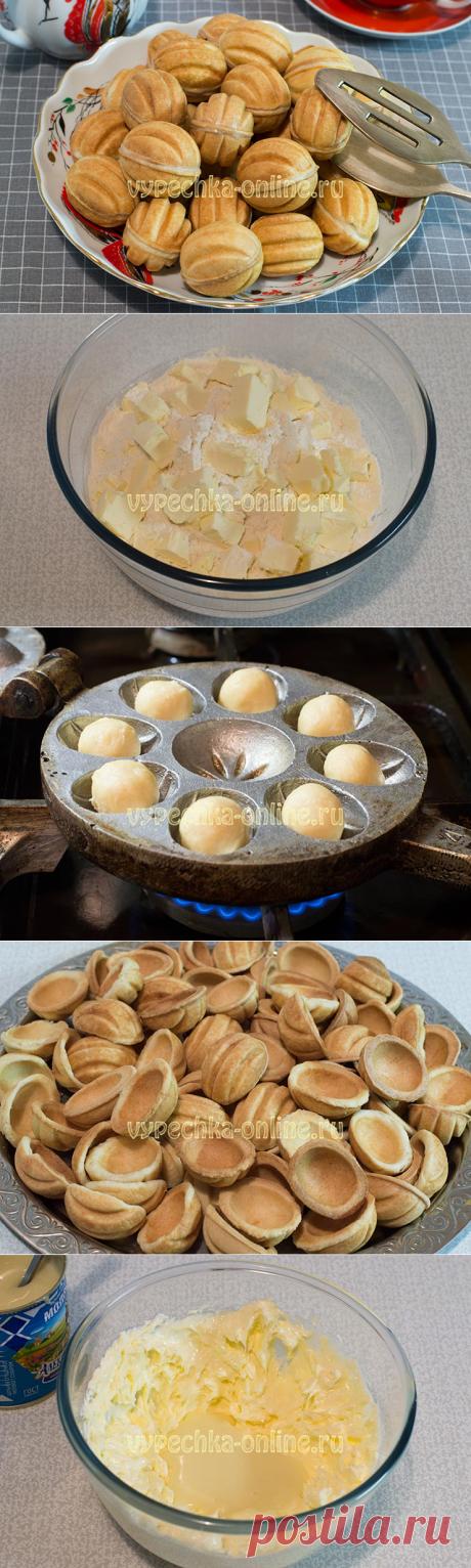 ✔️Рецепт печенья орешки со сгущёнкой в орешнице – как сделать пошагово с фото