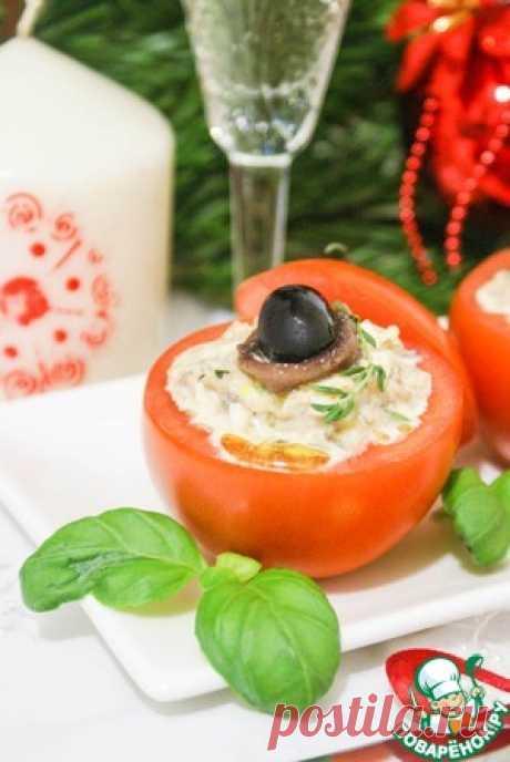 Помидоры фаршированные салатом из тунца - кулинарный рецепт