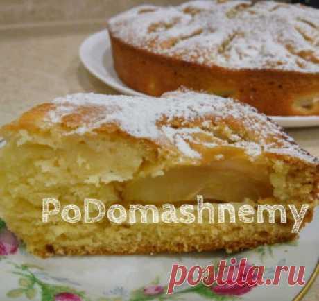 Нежный и мягкий пирог на кефире с яблоками за 10 минут в духовке / Видео-рецепты / TVCook: пошаговые рецепты с фото