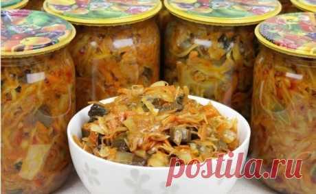 Грибная солянка с капустой на зиму - 5 рецептов впрок Грибная солянка с капустой - вкусное и очень полезное блюдо на зиму, которое обязательно понравится всем вашим домашним