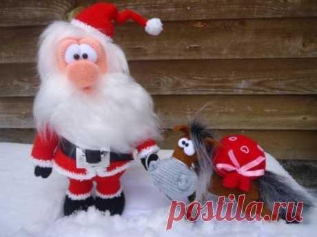 Санта Клаус и конь  Автор - dariаna