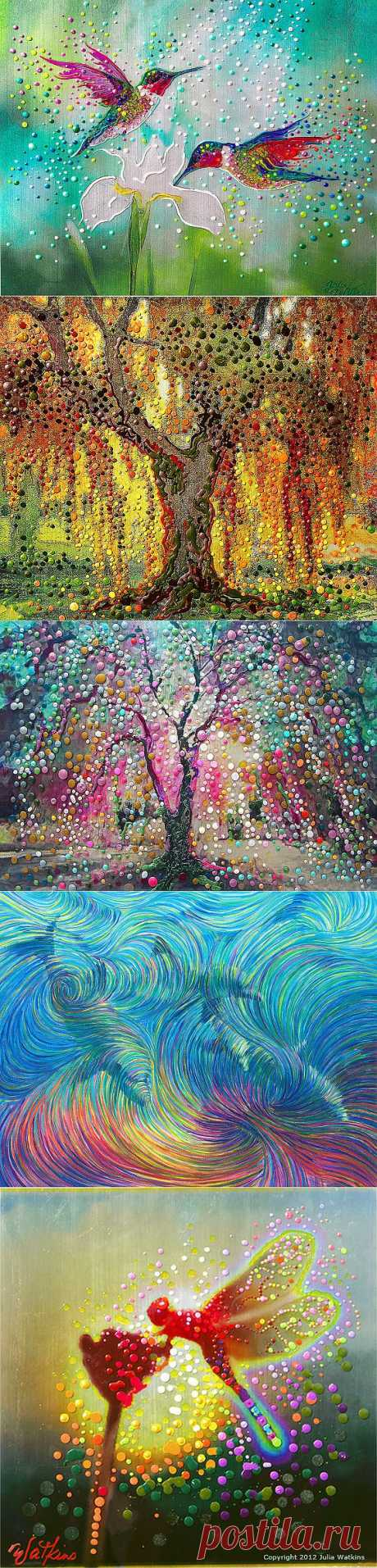 Энергетическое искусство Джулия Уоткинс | Мир в цвете: позитивное мышление, истории успеха, радости жизни