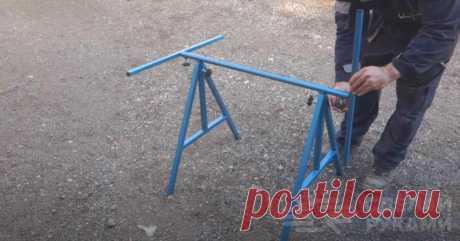 Переносной складной столик для работы в домашней мастерской или гараже