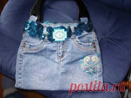 Экологичные сумки из джинсов — Рукоделие