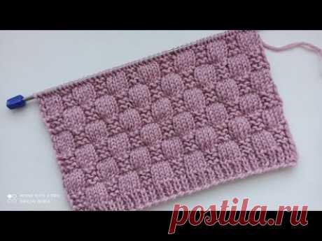 Красивый и очень простой рельефный узор спицами для вязания кардигана, жилета, свитера.