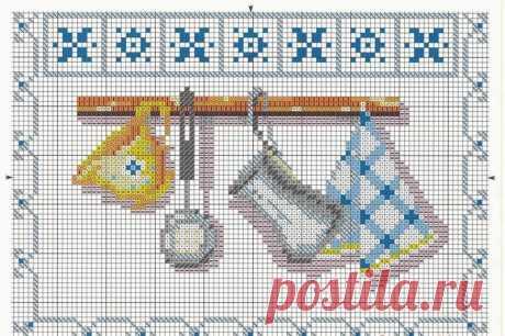 Схема вышивки на кухню
