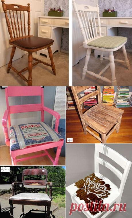 Новая жизнь старого стула: 7 интересных идей для рукодельниц