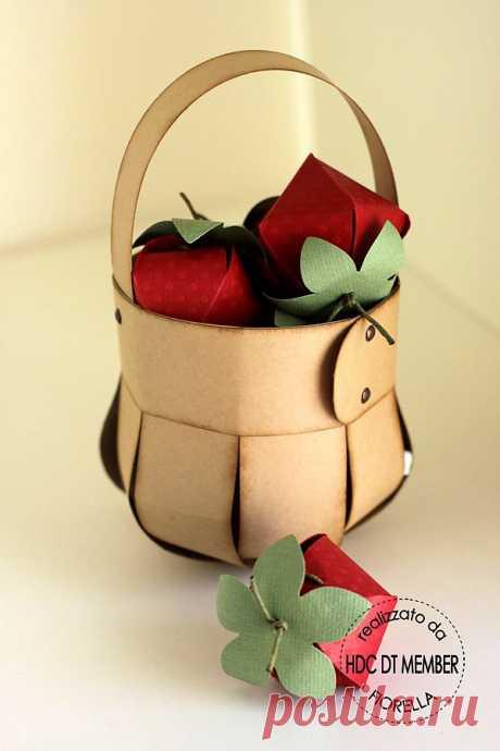 Подарочная скрап-корзинка