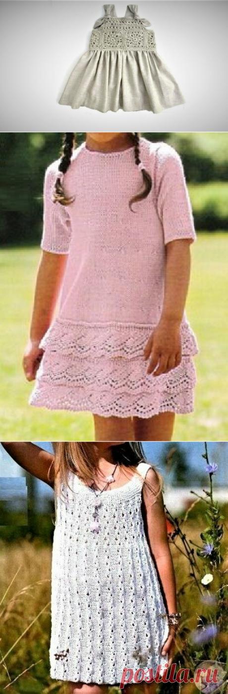 3 простые идеи связать красивые летние платья для девочек | Идеи рукоделия | Яндекс Дзен