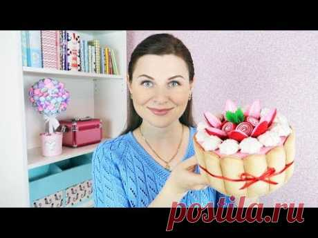 DIY the Organizer in the form of a cake from felt and a cardboard | the hands