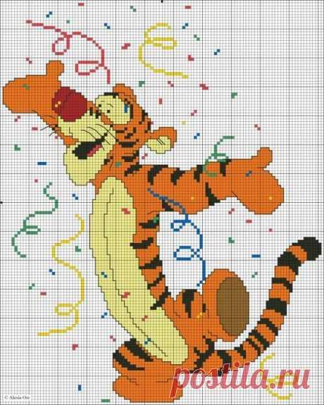 Вышивка крестом тигры и тигрята: 24 схемы вышивки крестом