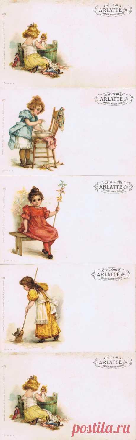 Старая реклама цикория. Детки.