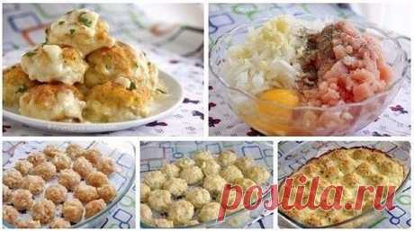 And wonderful teftelk will be decoration of our table! Ruddy lovely balls look incredibly appetizingly! \u000a\u000aCHICKEN FILLET BALLS IN SAUCE \u000a\u000aIngredients: \u000a\u000a- 500 gr. chicken fillet \u000a- 1 bulb \u000a- 1 egg \u000a- 3 garlic gloves \u000a- 200 ml of milk \u000a- 150 gr. firm low-fat cheese \u000a\u000aPreparation: \u000a\u000a1. Chicken fillet needs to be beaten off slightly and to cut small (forgot to beat off, but fillet was slightly frozen and it was easy to cut small) \u000a2. Then to add there small shredded onions, will salt...