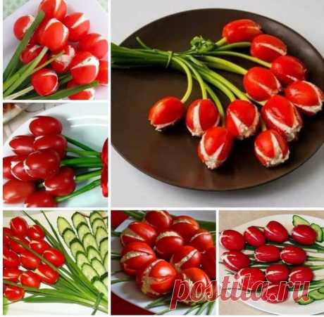 Как сделать тюльпаны к новогоднему столу — Полезные советы