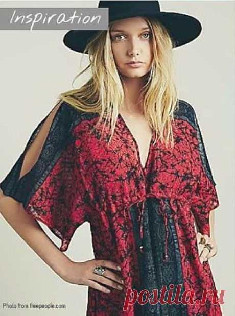 Платье-кимоно, размеры в дюймах. Источник: https://www.sewinlove.com.au/2015/09/18/free-sewing-pa.. #простыевыкройки #простыевещи #шитье #платье #платьекимоно #выкройка