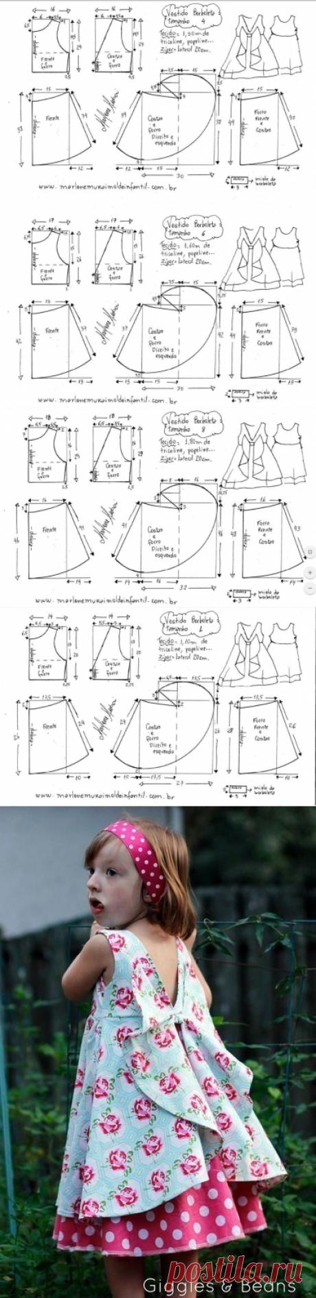 Красивейшее детское платье за 3 часа — Сделай сам, идеи для творчества - DIY Ideas