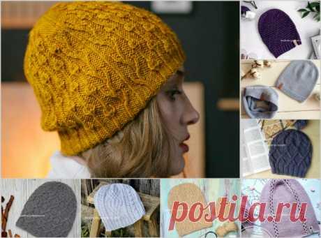 Новые модели вязаных шапочек бини спицами - Klubok.ru.com