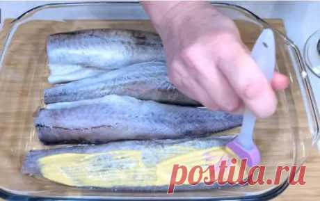 Смазываю минтай горчицей и запекаю в духовке. Простой рецепт вкусной и сочной рыбы - Вкусные рецепты - медиаплатформа МирТесен
