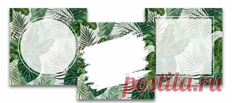 Арт Зелёные листья, шаблоны для текста инстаграм, скачать на instapik