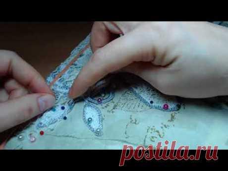 Вязание нерегулярной сеточки