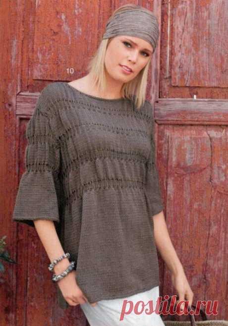 Вязаный пуловер-туника — Отлично! Школа моды, декора и актуального рукоделия