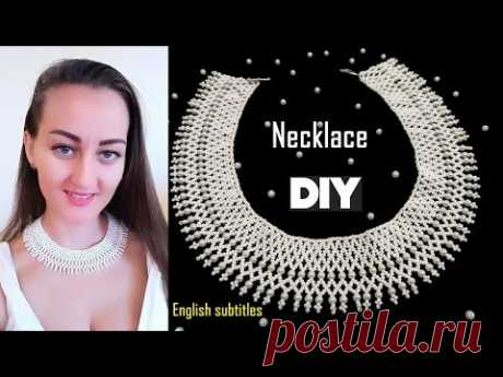 Шикарное Ожерелье из Бисера и Бусин/ Necklace of beads diy Tutorial