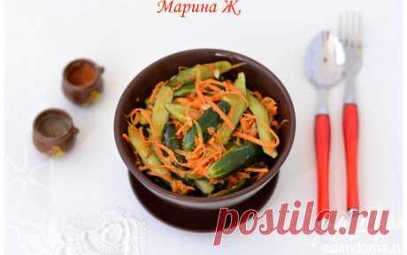 Консервированные огурцы по-корейски | Кулинарные рецепты от «Едим дома!»