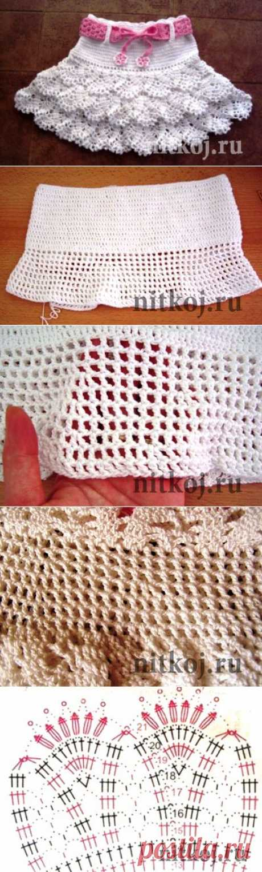 Детская юбка крючком » Ниткой - вязаные вещи для вашего дома, вязание крючком, вязание спицами, схемы вязания