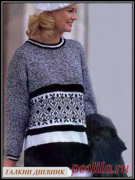 ГАЛКИН ДНЕВНИК: Женский пуловер с жаккардовым узором