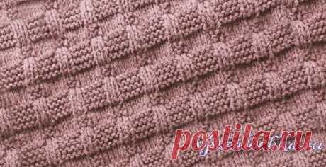 Текстурный узор спицами из простых петель