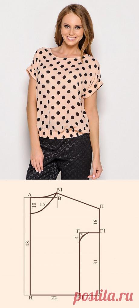 Как сшить блузку с коротким рукавом. Пошаговое описание (Шитье и крой) — Журнал Вдохновение Рукодельницы