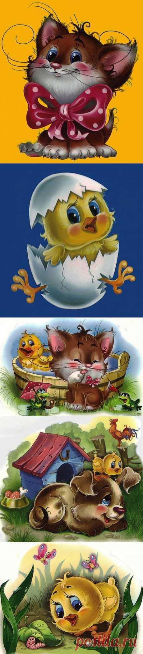 Детские картинки Г.Цукавина | Подружки