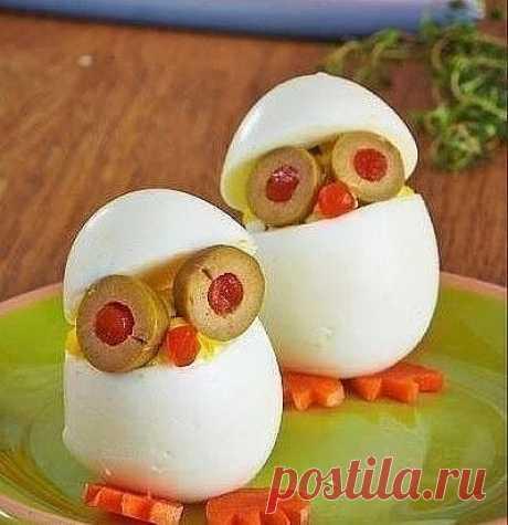 Оформляем из варёных яиц
