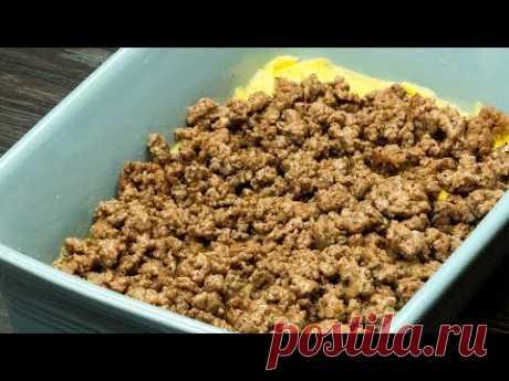 Когда времени мало, а хочется поесть вкусно и быстро - спасет запеканка с мясом. | Appetitno.TV