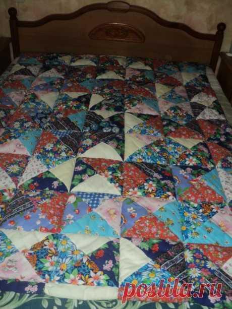 Оригинальная техника лоскутного одеяла из подушечек - Сам себе волшебник