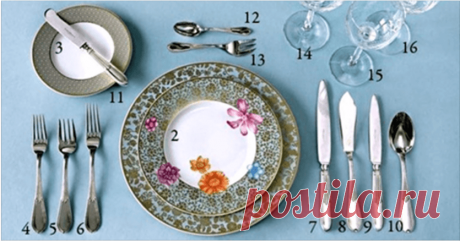 Fantastically useful crib for hostesses: lay the table correctly — Useful tips