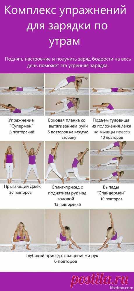 Лучшие упражнения для утренней зарядки и хорошего начала дня