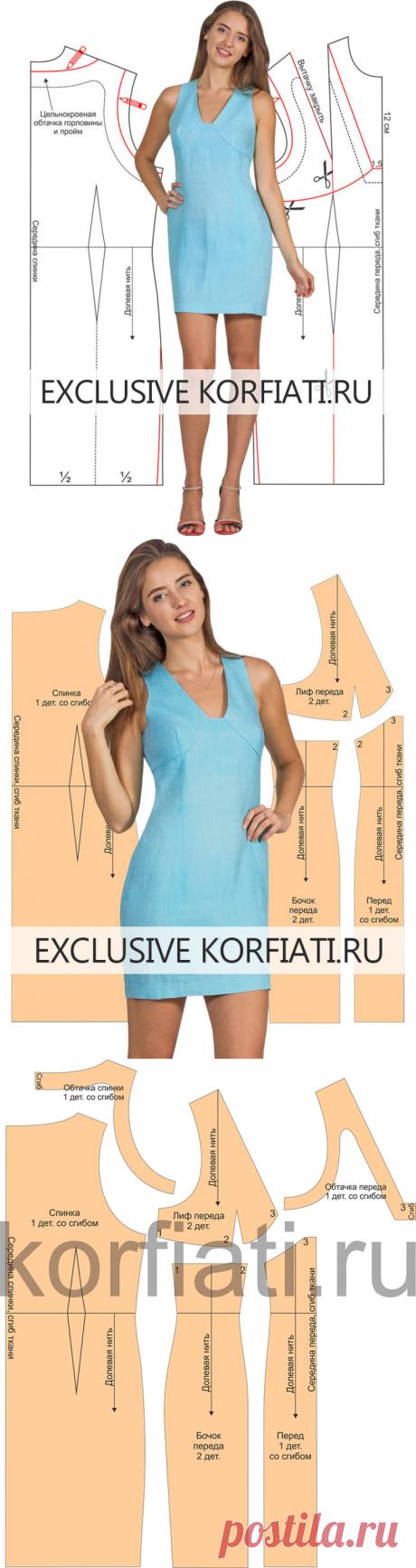 Выкройка льняного платья - ШКОЛА ШИТЬЯ Анастасии Корфиати