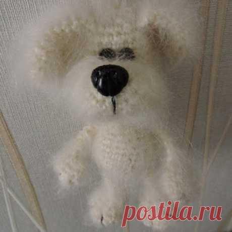 1000 схем амигуруми на русском: Брелок собачка крючком