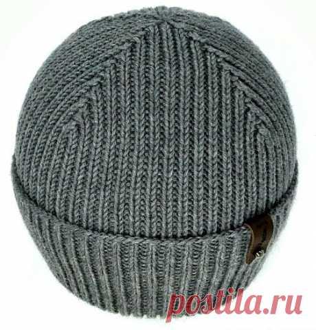 Мужская шапка спицами. Учусь вязать как профи | Посиделки-рукоделки | Яндекс Дзен