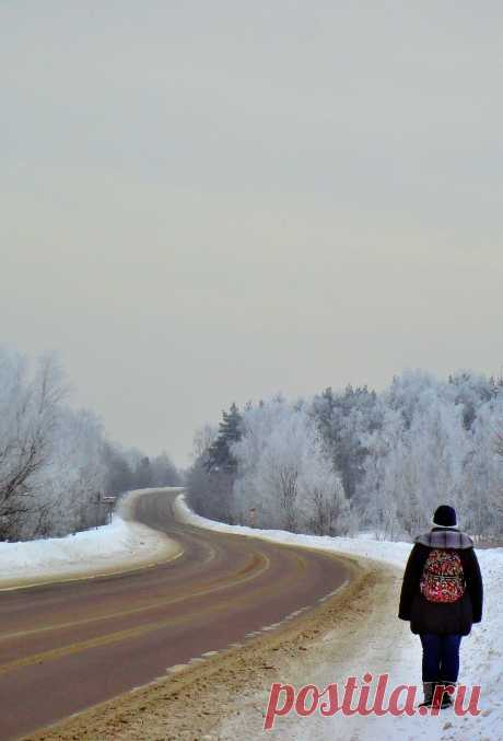 Зимняя дорога.Январь 2013.